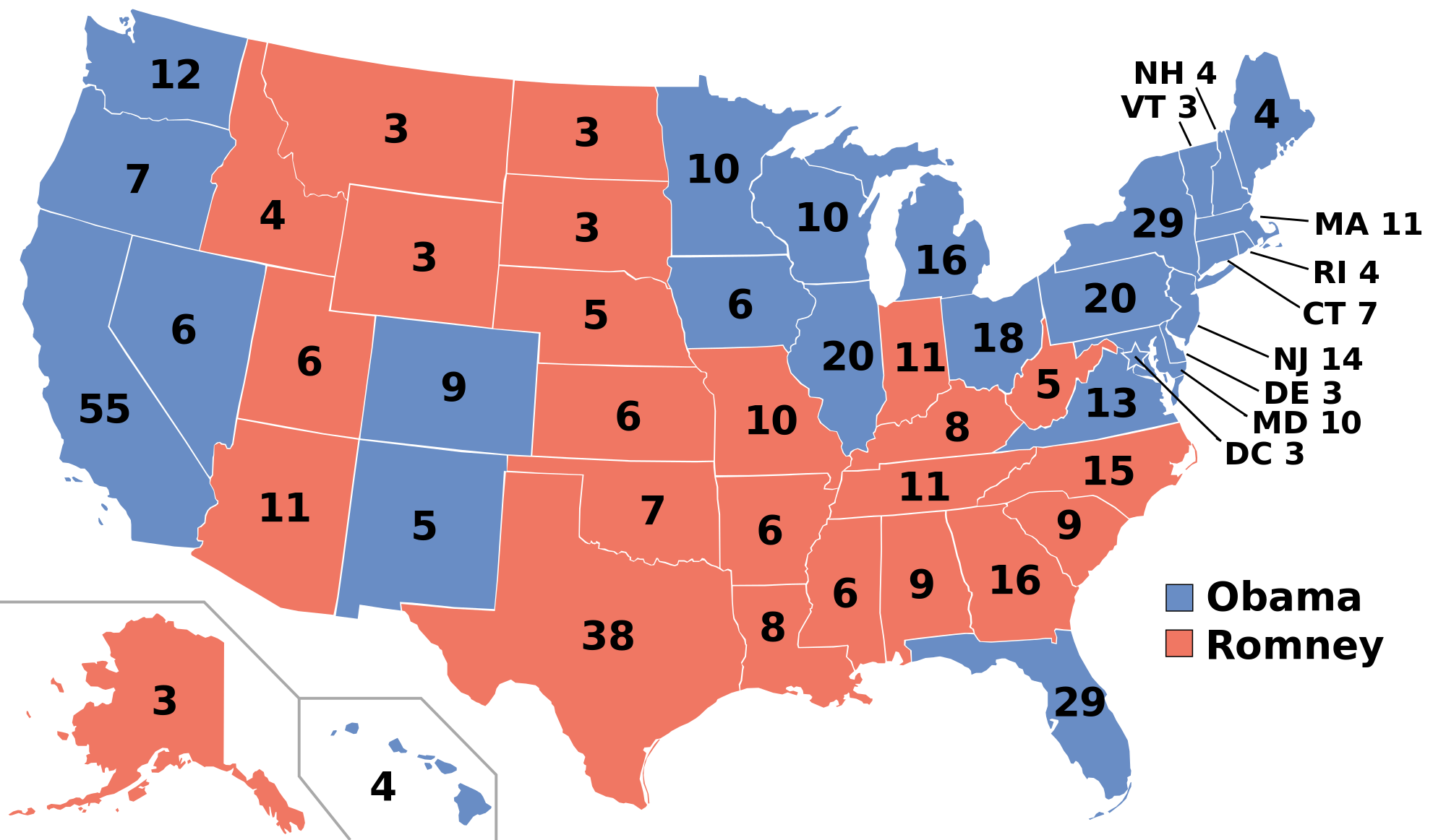 Historical US Presidential Elections Historical US - Us map by electoral vote